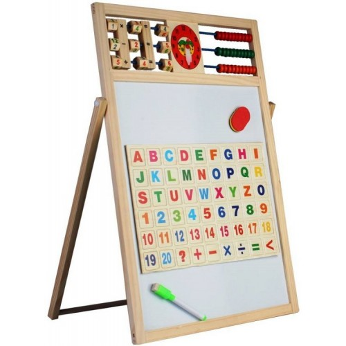 Tabla magnetica educativa 5 in 1, doua fete